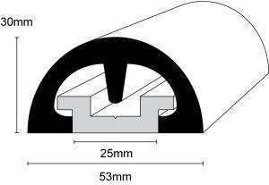 BUMP! 53mm Boat Fendering Profile