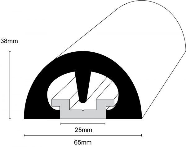 BUMP! 65mm Boat Fendering Profile