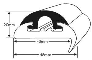 PVC 1417R rigid PVC body with PVC 1418 insert