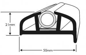 PVC 170 Boat Fendering Insert Profile
