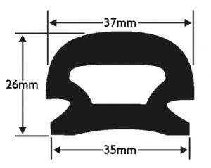 PVC 18 Boat Fendering Insert Profile