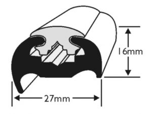 PVC 180 Boat Fendering Insert Profile