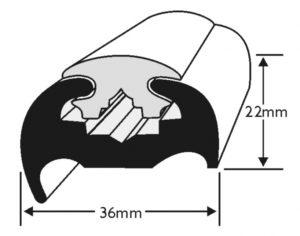 PVC 370 Boat Fendering Insert Profile