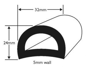 PVC 50 Boat Fendering Profile