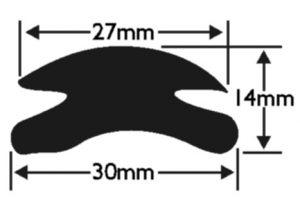 PVC 74 Boat Fendering Insert Profile