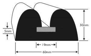 PVC 883 Boat Fendering Profile