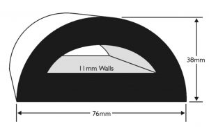 PVC 72 Boat Fendering Profile