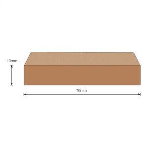 Flexiteek 2G Trim: 76mm Rubbing Rail