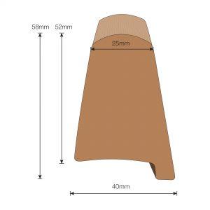 Flexiteek 2G Trim: 40mm Toe Rail